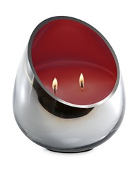 Candle - Red Coral Chrome Glass  by