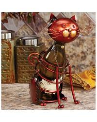 Wine Bottle Holder - Cat by