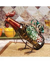 Wine Bottle Holder - Rooster by