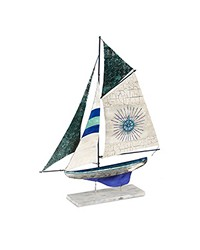 Table Decor - Corfu Sailboat by