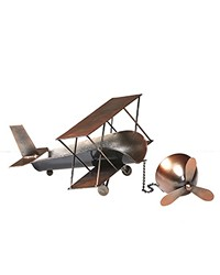 Wine Bottle Holder - Biplane Ant. Copper by