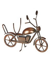 Wine Bottle Holder - Motorcycle Ant. Copper by