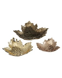 Table Decor - Ceramic Maple Leaf Assortment by