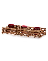Natural Branch Triple Candle Holder by