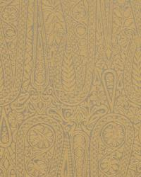 Gold Solid Color Denim Fabric  Satin Paisley Gold