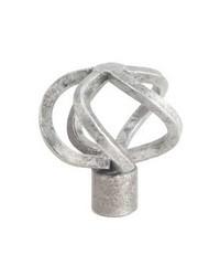 Basket Finial Silver by  Stout Hardware