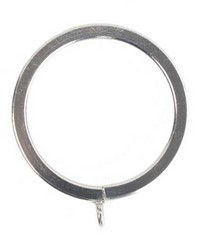 Flat Lined Rings Chrome Pack of 10 by