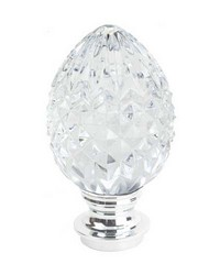 Pineapple Finial Chrome by