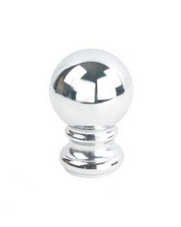 Iron Ball Finial Chrome by