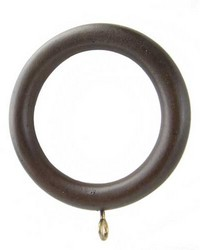 Standard Curtain Rings Chocolate 7 Pack by