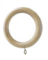Standard Curtain Rings Pickled Oak 7 Pack by