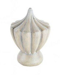 Torch Curtain Rod Finial Ash by  Stout Hardware