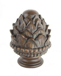 Pineapple Curtain Rod Finial Chocolate by  Stout Hardware