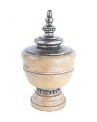 Spindle Curtain Rod Finial Pickled Oak by  Stout Hardware