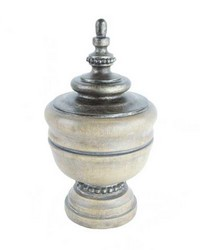 Spindle Curtain Rod Finial Ash by  Stout Hardware