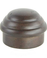 Curtain Rod End Cap Chocolate by  Stout Hardware
