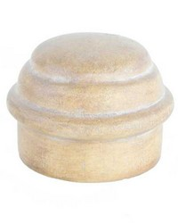 Curtain Rod End Cap Pickled Oak by  Stout Hardware