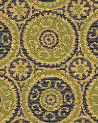 Green Suzani Fabric  Elegant Suzani Leaf