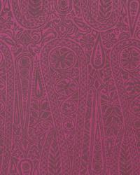 Red Solid Color Denim Fabric  Satin Paisley Rhubarb