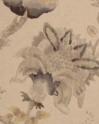 Jacobean Floral Fabric  Weyden Desert