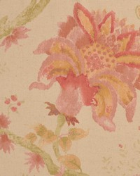 Pink Jacobean Floral Fabric  Weyden Sedona