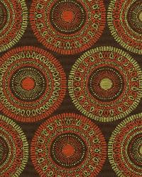 Red Suzani Fabric  Circle Art Tuscan