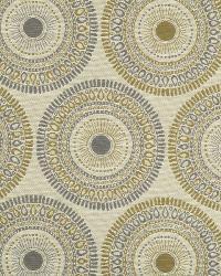 Beige Suzani Fabric  Circle Art Warm Neutral