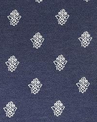 Blue Solid Color Denim Fabric  Simple Array Indigo