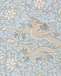 Chien Dragon Linen Print Sky by