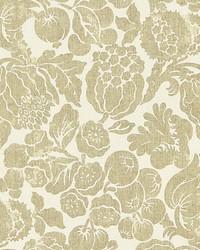 Elsa Linen Print Burnished Gold by