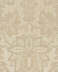 Metalline Damask Champagne by