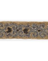 Zardozi Velvet Tape Fawn  Silver by