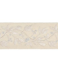 Laurel Embroidered Tape Vellum by