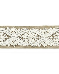 Linnea Embroidered Tape Flax by