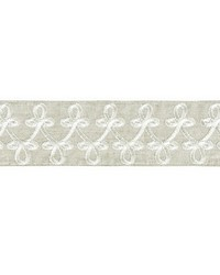Empress Embroidered Tape Linen by  Scalamandre Trim