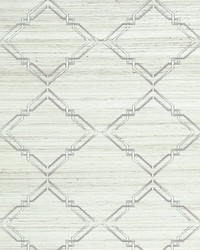 Monroe Embroidered Grasscloth Glacier by  Scalamandre Wallcoverings