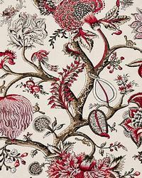 Pondicherry Linen Print Raspberry by