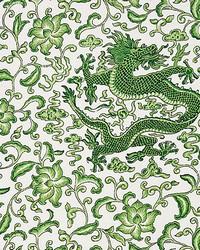 Chien Dragon Linen Print Jade by