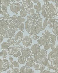 Elsa Linen Print Silver On Skylight by