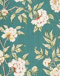 Peonia Linen Print Emerald Isle by