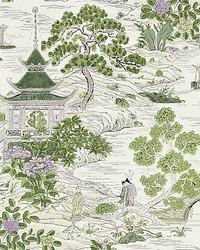 Satomi Hand Block Print Lavender  Citron by
