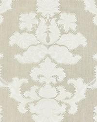 Cornelia Damask Embroidery Flax by