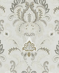 Ava Damask Embroidery Mineral by