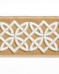 Celtic Embroidered Tape Camel by  Scalamandre Trim