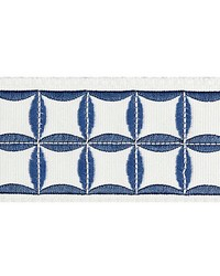 Fiori Embroidered Tape Delft by  Scalamandre Trim