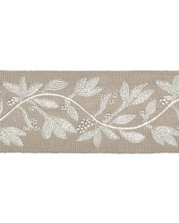 Laurel Embroidered Tape Flax by