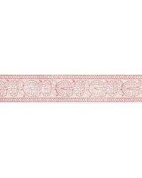 Tulsi Block Print Tape Coral Spice by