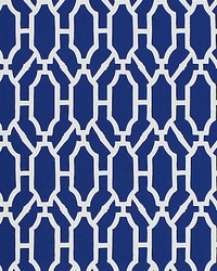 Pavilion Trellis Indigo by  Scalamandre Wallcoverings