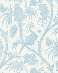 Balinese Peacock Sky by  Scalamandre Wallcoverings