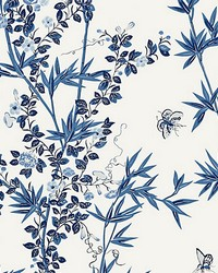 Jardin De Chine Porcelain by  Scalamandre Wallcoverings